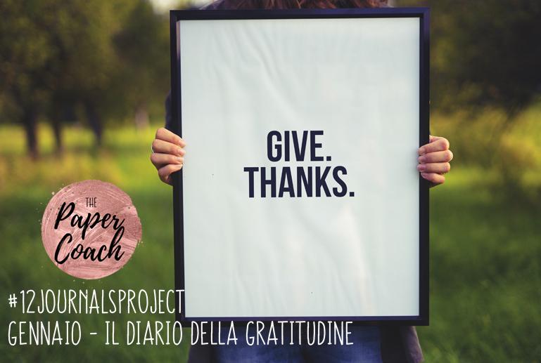 12 Journals Project: il Diario della Gratitudine